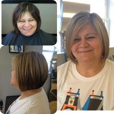 Before and After. Hair by Paola Lugo. Duncan Edward- Progressive European Hair Design in Madison, WI. www.duncanedward.com #duncanedward #womenshair #beforeandafter #bob