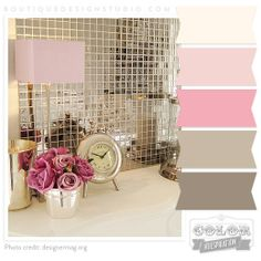 Pink, Cream, Rose, Brown/Warm Grey Color Palette