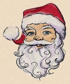 Painted Santa - Thread List | Urban Threads: Unique and Awesome Embroidery Designs