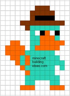 Minecraft Pixel Art Templates: Perry the Platypus