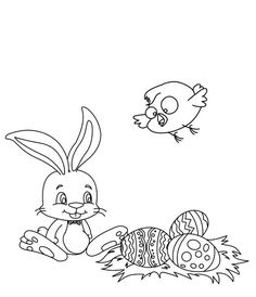Spectacular Free Easter Bunny Coloring Pages 68 The Kids Will Love
