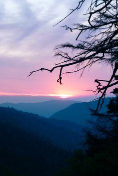 Great Smokey Mountain National Park at Sunset.