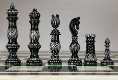 The Black Carved Vase Bone Chessmen, Carved Camel Bone Chess Pieces Chess Tactics, Chess Set Unique, Chess Table, Kings Game, Set Game, Board Games, Game Boards, Chess Sets, Chess Pieces