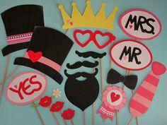 """Photo Booth """"Hochzeit"""" Rosa (Foto-Accessoires) von Piratenbraut auf DaWanda.com"""