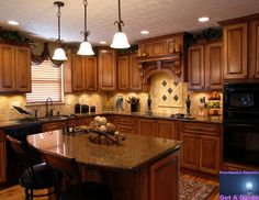 has an Old World/Tuscan feel to it www.providenceelectricnc.com
