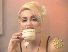 Madonna drinking #tea gif. #celebrities