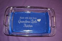 Personalized Custom Bakeware 3 Different Sizes with Lids by hbhill