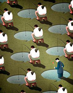 ©Kaiti Hsu - Ilustración Editorial. Ilustración | Illustration online dating