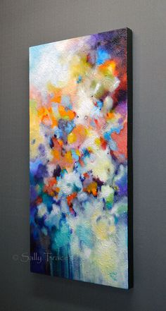 abstract painting by Sally Trace Higher Vibration right side view