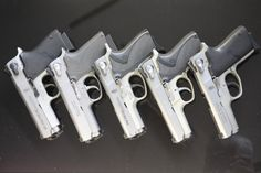 S & W Compacts - 4513TSW, 4516-1, 4013TSW, 6906, and 3913