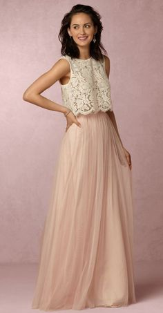 Featured Bridesmaid Dress: BHLDN #tulleskirtprom