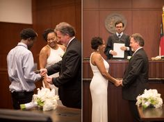 Downtown Raleigh wedding photos by Mikkel Paige Photography. North Carolina courthouse wedding, mixed race older couple with family and urban photos. Civil Wedding, Elope Wedding, Wedding Pics, Elopement Wedding, Wedding Dresses, Elopement Ideas, Budget Wedding, Wedding Ideas, The Knot