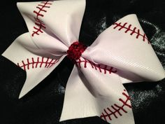 Baseball Bow with Laces - Glitzy Cheer Bows