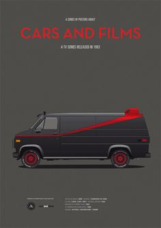 SALE A-Team inspired car poster art print A3 Cars by CarsAndFilms