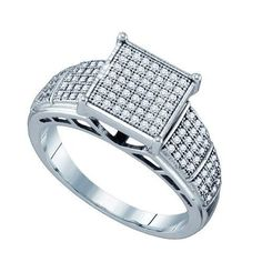 1/3CT-Diamond MICRO-PAVE RING