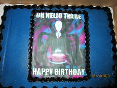 Slender Man birthday cake
