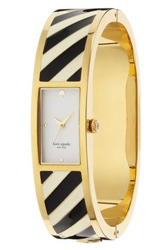 kate spade new york 'carousel' stripe bangle watch | Nordstrom