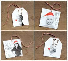Photo gift tags - so cute!