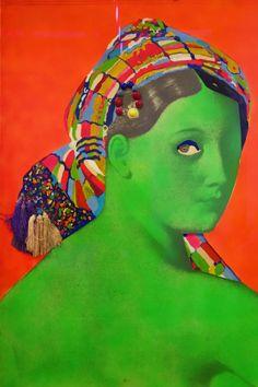 Martial Rayasse La grande odalisque, at Centre Georges Pompidou #Paris #art