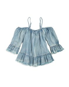 58.00$  Buy here - http://viufl.justgood.pw/vig/item.php?t=mxrf4x2818 - BLANKNYC Girls' Off-The-Shoulder Ruffled Top - Big Kid