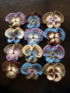Japanese Crochet Flower Patterns | mind of winter: The Progress of Pansies