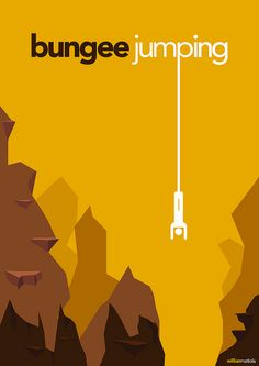 """Damon asked me:""""what about bungee jumping?"""" My answer was:"""" Are you crazy if you think I'll jump from a bridge! Typography Letters, Typography Poster, Lettering, Bungee Jumping, Graphic Design Print, Graphic Design Typography, Typography Inspiration, Graphic Design Inspiration, Design Ideas"""