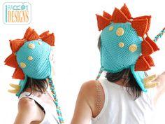 SPIKY THE STEGOSAURUS DINO HAT PDF CROCHET PATTERN Crochet Dinosaur Hat 35c918254361