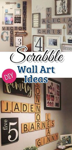 M s de 25 ideas incre bles sobre arte de pared scrabble en - Scrabble decoracion ...