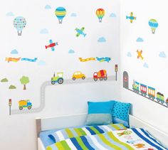 Buy these popular Transport Wall Stickers for your boys room