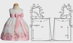 ARTE COM QUIANE - Paps,Moldes,E.V.A,Feltro,Costuras,Fofuchas 3D: Molde Vestido de festa infantil