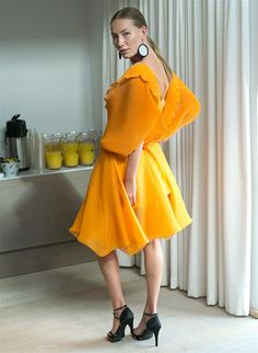 Yellow dress by Jennifer Blom