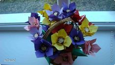 Master Class, Handicraft, product, Sweet Design Origami Flowers for guests.  Paper.  Photo 1