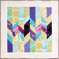 Shattered Chevron Block ~  This is a fast block to make, and is great for using up strips of fabric. http://www.linkytools.com/click_linky.aspx?entryid=5758397