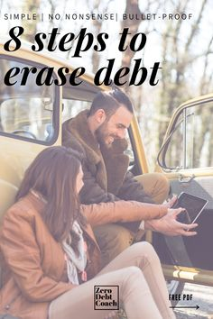 Tired of debt and living paycheck to paycheck? Here are the 8 steps I followed to eliminate over $43k worth of debt in 2.5 years. Believe me, if I can do it, so can you! Debt Free Living, Living On A Budget, Frugal Living, Debt Repayment, Debt Payoff, Thing 1, Budgeting Tips, Budgeting Finances