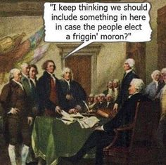 See... they actually did. One of the official duties of the electoral college is to prevent an unfit person from becoming president. But, when your electors are bought and paid for, this is what we get. We should NEVER stop reminding the electors that this is largely their fault for putting party ahead of country. Hope they have a penthouse booked in hell for what they've done.
