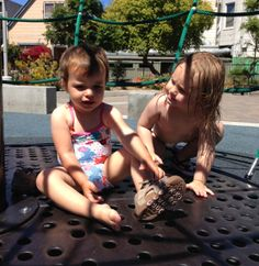 Making new friends at the water park #SanFran #cute #kids