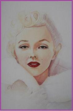 Marilyn - Gouache