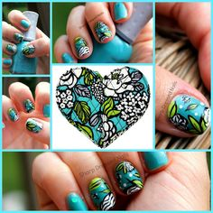 Sharp Dressed Nails: Island Blooms - Vera Bradley Nails