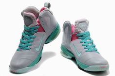 Nike LeBron 9 P.S. Elite Grey Green 087ba6e4f7
