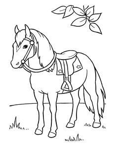 cute horse coloring pages - Horse Coloring Pages Toddlers