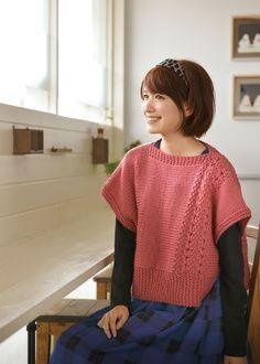 【楽天市場】作品♪213w-13四角のセーター:【毛糸 ピエロ】 メーカー直販店