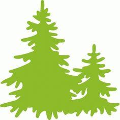 Silhouette Design Store - Search Designs : two pine trees