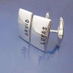 Älskade Barn #Cufflinks with #important names <3  #Personalized #jewelry #Namejewelry