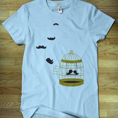 Fly Free Tee Light Blue now featured on Fab.