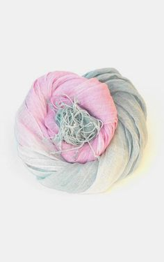 Pink and Grey Linen Scarf Womens Ombre Scarf