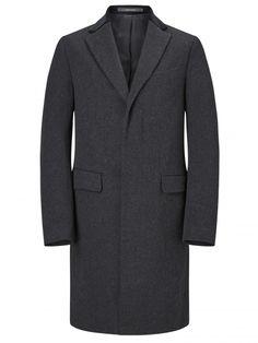 Pure Cashmere Grey Retro Coat - Coats - Menswear