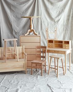 With elegant, inexpensive raw-wood pieces and easy techniques, you can paint, stain, oil, or wax your way to a one-of-a-kind treasure in no time.  It takes some vision to see the potential in unfinished furniture. But because these basic furnishings can be completely customized, they offer a great opportunity. Raw-wood tables, chairs, and dressers