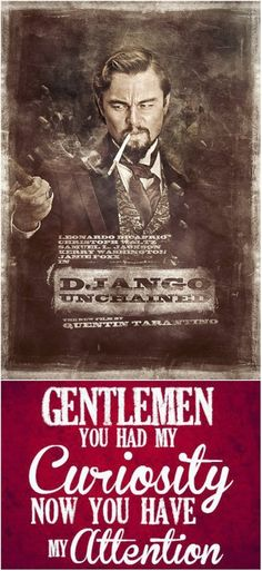 Django Unchained #Tarantino #DjangoUnchained - click through for our top 10 Alternative Django Unchained Posters...