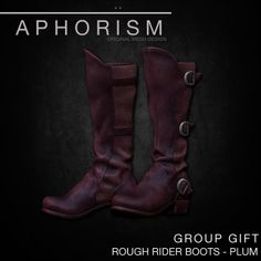 APHORISM RR BOOTS PLUM GROUP GIFT | Flickr - Photo Sharing!