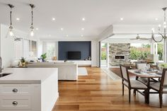 Elevate your home with Designer Living from Metricon Love Home, Style At Home, Dark Timber Flooring, Large Floor Plans, Edwardian House, New Home Designs, Home Decor Kitchen, Inspired Homes, House Prices